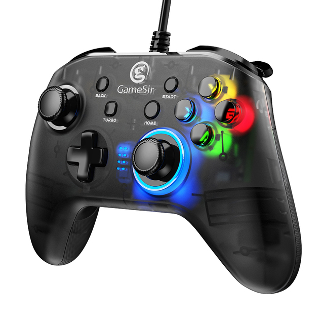 GameSir T4w USB Wired Game Controller Gamepad with Vibration and Turbo Function Joystick for Windows 7/8/10 2