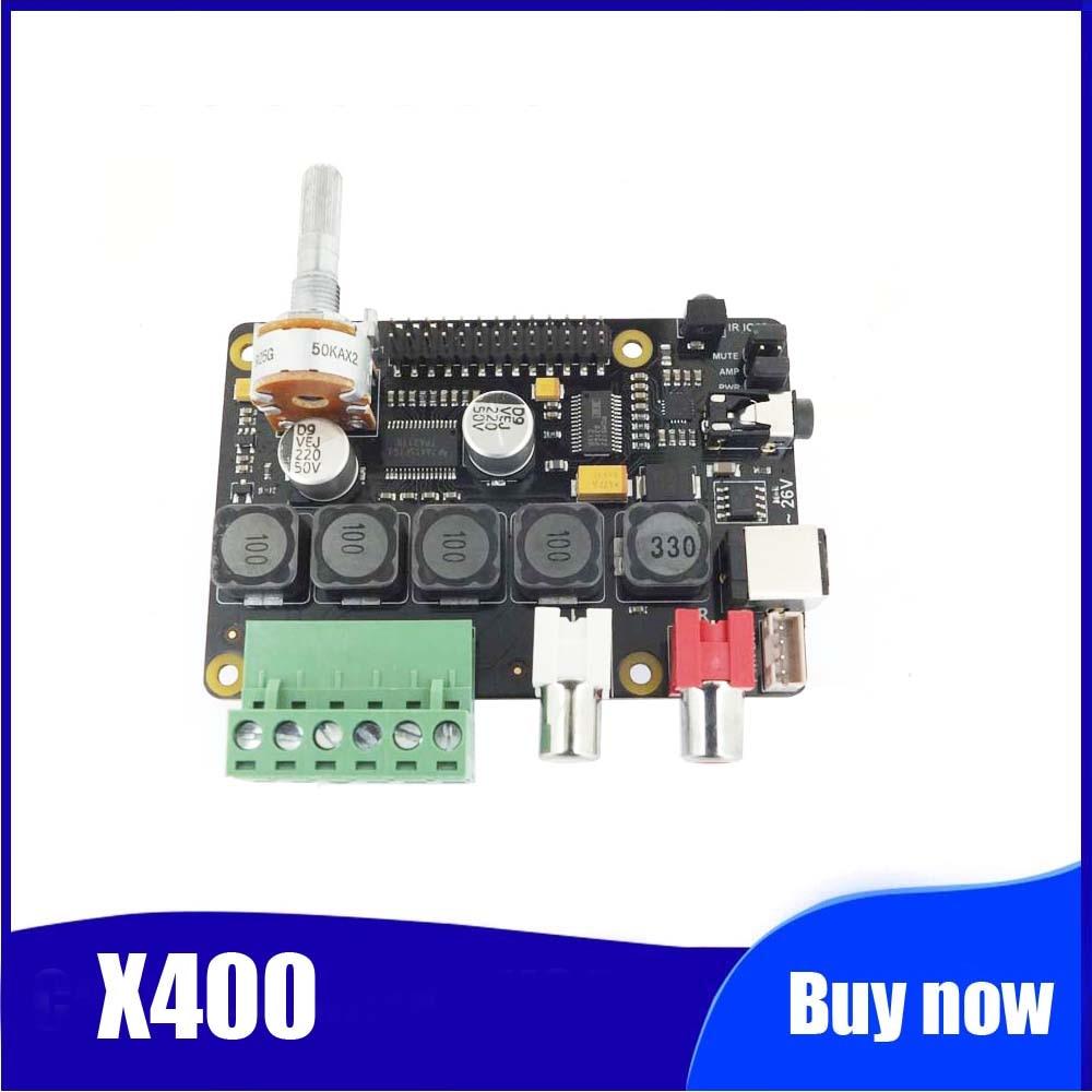 Raspberry pi amplificador dac full-hd, classe-d, pcm5122 x400, placa de expansão de áudio, raspberry pi 3 modelo b + reprodutor de música