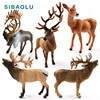 New Sika Deer Reindeer Elk figurine Simulation Animal model Diy home decor miniature fairy garden decoration accessories modern 1