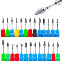 Tungsten Carbide Nail Drill Bits Electric Manicure Drill Machine Accessories Dead Skin Cutter Nail File Nail Art Tool 10pcs round grinding stone head nail drill bit 3 32 for electric manicure cutter machine dead skin nail file remove polish