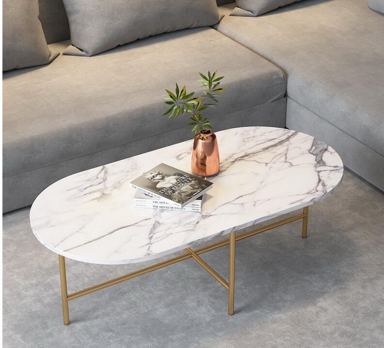 Marble Coffee Table Simple Modern Side