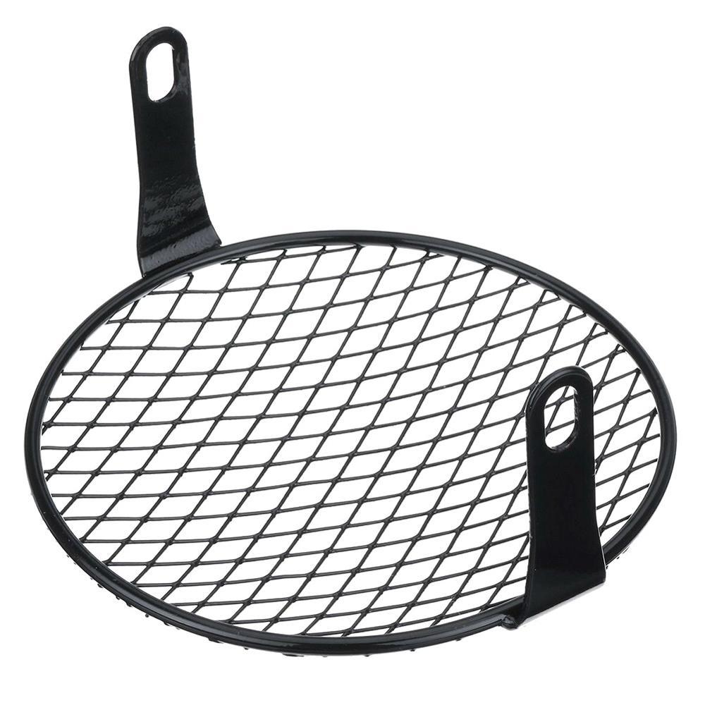 1 Pc 7'' Metal Mesh Grill Mask Protector Motorcycle Retro Headlight Metal Halogen Front Head Light Lamp Bracket Mask Kits