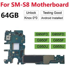 Image 1 - BINYEAE Original Unlocked Main Motherboard For Samsung Galaxy S8 Plus G955F G955FD G955U S8 G950F G950FD Unlock 64GB Motherboard