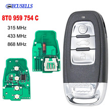Smart Chiave A Distanza Keyless Entry 3 Pulsante 315MHz/433MHZ/868MHZ 8T0 959 754C per Per audi Q5 A4L A5 A6 A7 A8 RS4 RS5 S4 S5