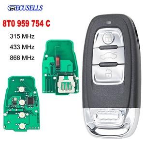 Image 1 - Smart Remote Key Keyless Entry 3 Taste 315MHz/433MHZ/868MHZ 8T 0 959 754C für für Audi Q5 A4L A5 A6 A7 A8 RS4 RS5 S4 S5