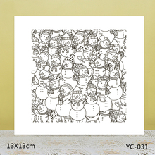 AZSG Hat snowman Clear Stamps For DIY Scrapbooking/Card Making/Album Decorative Rubber Stamp Crafts