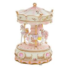 Carousel Music Box LED Light Merry Go Round Children Girls B