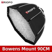 Triopo K90 90cm Photo Portabe Bowens Mount Octagon Umbrella Softbox + Honeycomb Grid Outdoor Soft Box for Studio Strobe