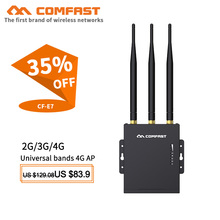 Outdoor 4G CPE Router LTE Routers 3G/4G SIM Card WiFi for Outside Coverage AP Repeater with 3*5dBi antennas CF-E7