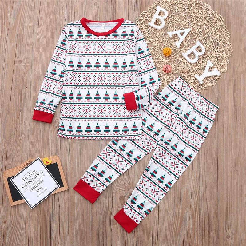 Outfit Uguali per la Famiglia Look Pigiami Di Natale Bambini Papà Mamma Vestiti Degli Indumenti Da Notte Di Natale Famiglia Sguardo Pigiama Famiglia Set Abbigliamento