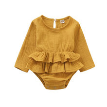 Newborn Infant Baby Girls Romper Cotton Long Sleeve Baby Rompers Girls Clothing(China)