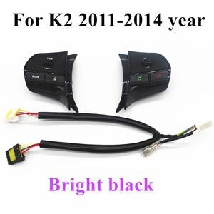 Image 3 - Рулевое колесо громкости музыки кнопки управления коммутатором с Bluetooth телефон звук для подсветки для KIA 2012 новый RIO K2