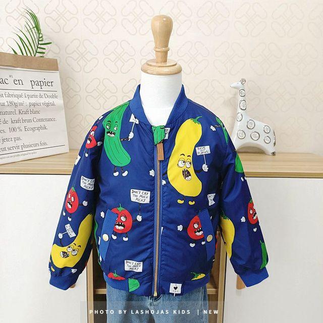 Winter Baby Girls Boys Vegetables Printed long Jacket Kids Keep Warm Thick  Fruits Parkas Coats Children Girls Outerwear Boys Cl 3