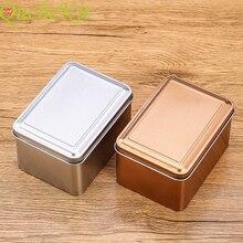 Rectangle Metal Storage Boxes Scrub Tin Box Tea Tin Jars Jew