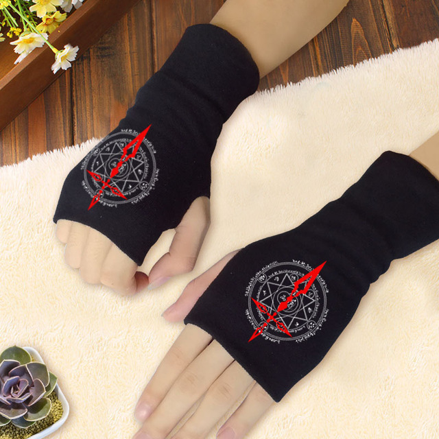 2019 New Hot Sale Anime Attack on Titan Finger Cotton Warm Knitting Wrist Gloves Mitten Lovers Anime Accessories Cosplay 2