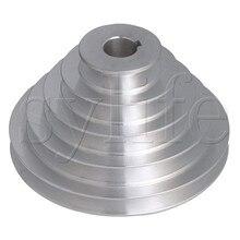 5 adım A tipi V kayışı Pagoda kasnak kayış dış Dia 54 150mm (delik Dia 14mm,16mm,18mm,19mm,20mm,22mm,24mm,25mm,28mm)