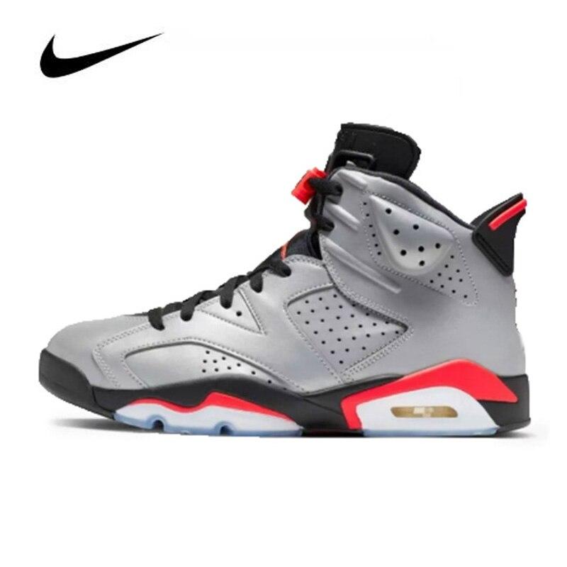 Nike Air Jordan 6 Retro Reflections Men's Basketball Shoes Sneakers Original High Top Basketball Women Shoes CI4072-001