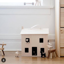 Nordic Style wooden Children's Holdie house Storage Box DollHouse Toy Doll House Kit Kids Best Gift Drop Shipping(China)