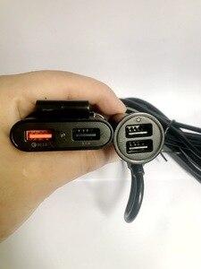 Image 4 - QC3.0 ładowarka samochodowa 1 w 4 USB tylne siedzenie wiersz szybkie ładowanie ładowarka samochodowa telefon komórkowy kabel do szybkiego ładowania dla iPhone samsung xiaomi