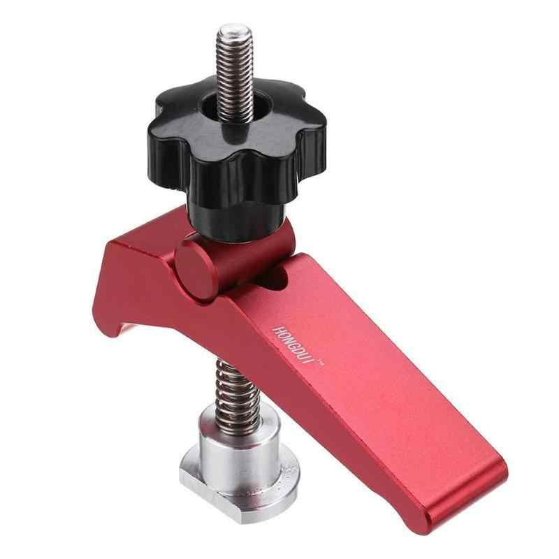 Drillpro אלומיניום סגסוגת משחק מהיר החזק מהדק T-חריץ T-מסלול מהדק סט מצנפת מסלול לנענע מתקן t-חריץ נגרות כלי