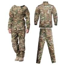 Uniforme militar camuflagem tático terno dos homens do exército forças especiais combate camisa casaco pant definir camuflagem militar soldado roupas