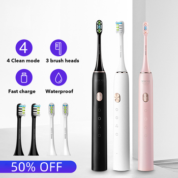 Xiaomi Soocas X3U Sonic Electric Toothbrush Upgraded Adult Waterproof Ultrasonic Automatic Toothbrush USB Rechargeable Oral Care xiaomi mijia t100 sonic electric toothbrush adult waterproof ultrasonic automatic toothbrush usb rechargeable oral dental care