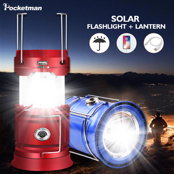 Portable Camping Light Rechargeable Lantern Outdoor Tent Light Solar Power Collapsible Lamp Flashlight Emergency Light Torch 2016 new fashion led solar power light outdoor camping tent lantern hiking lamp portable light solar lantern light with fm radio