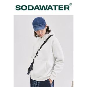 Image 4 - SODAWATER Men Hoodies Japanese Street Style 11 Pure Colors Hooded Sweatshirt Pullover Thick Warm Oversize Hoodie Men Tops 167W17