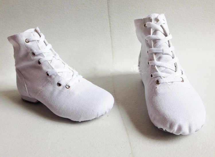 Yüksek Top tasarımcı bale dans ayakkabıları bölünmüş topuklu taban ayakkabı siyah kırmızı beyaz erkekler kadınlar erkek kız tuval caz ayakkabı