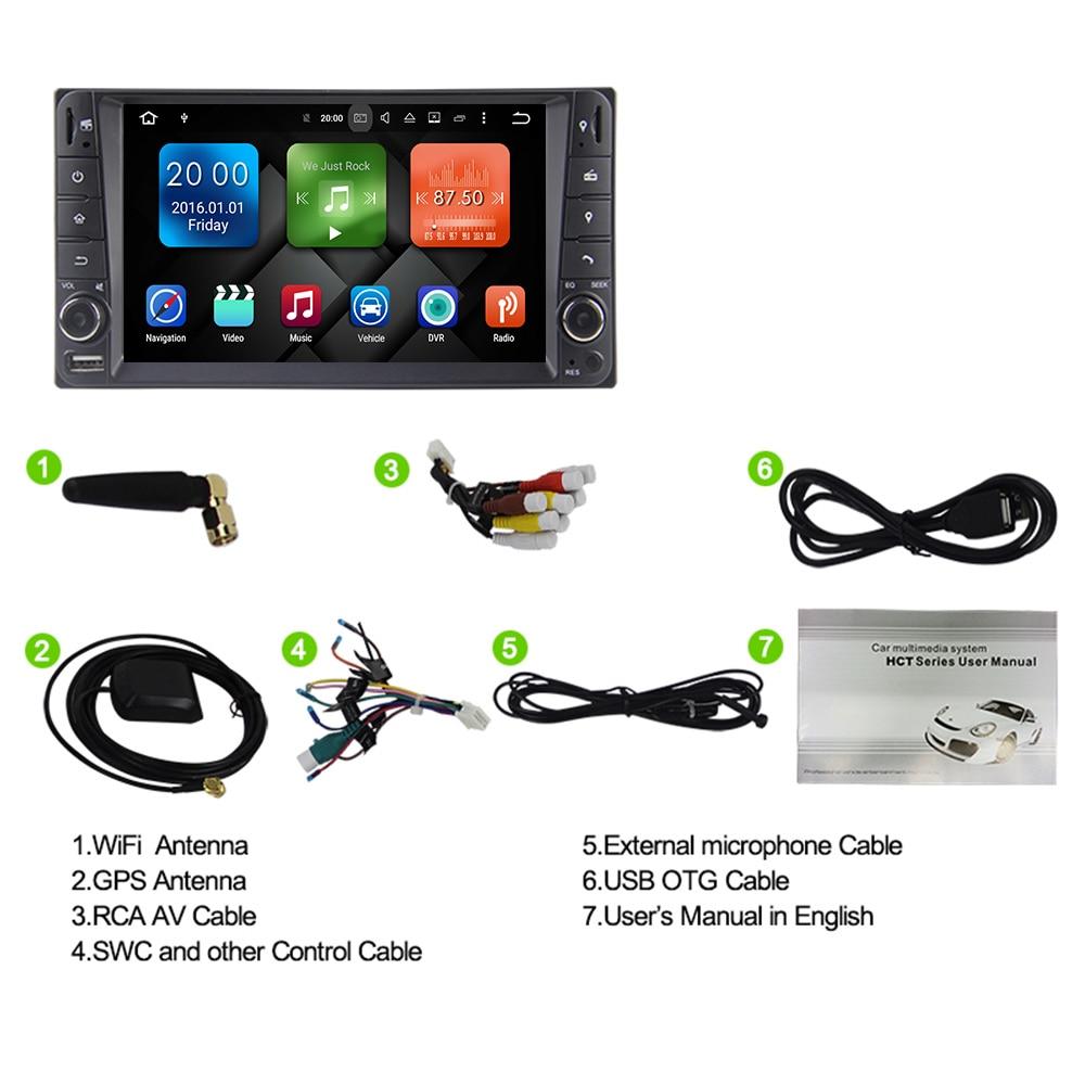 Eunavi 2 din 7 ''Octa core Android 9.0 samochodowe multimedia GPS dla Toyota Terios stary Corolla Camry Prado RAV4 radio stereo RDS wifi
