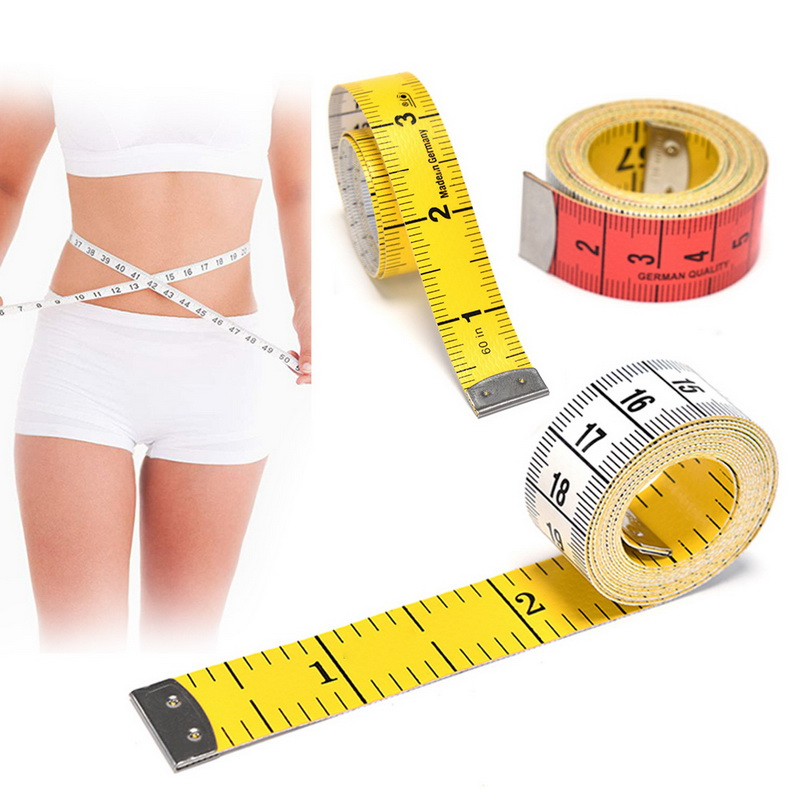 1.5M Sewing Tailor Retractable Ruler Tape Measure Yellow