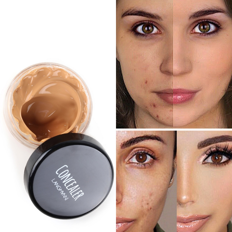 Face Concealer Cream Moisturizing Cover Defects Brighten Skin Color Liquid Foundation Natural