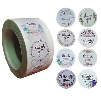 Pretty 8 Pattern/roll Floral Thank You Stickers Seal Labels 500pcs for Wedding Gifts Business Scrapbook Dairy Stationery Sticker pretty reckless pretty reckless who you selling for 2 lp