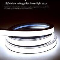 12/24v Flexible Wasserdichte Silikon LED Licht Streifen Silica Gel Weiche Lampe Rohr 1m - 5m IP67 Neon Seil LED Licht Band