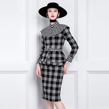 Xiaoxiangfeng Suit Celebrity Fashion High End Professional Dress Temperament Goddess Dress Suit Skirt Autumn and Winter 1
