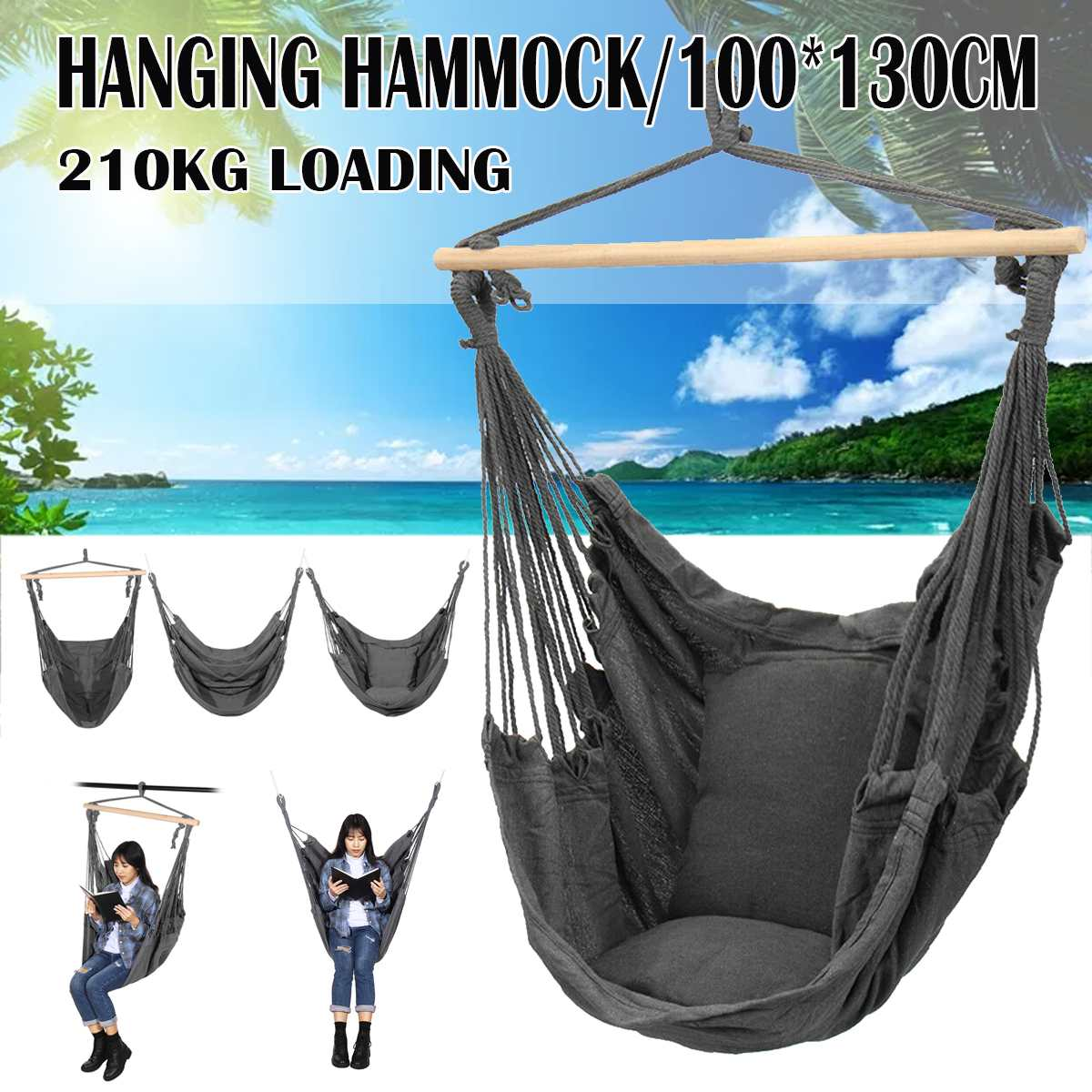 Nordic Style Hammock Outdoor Indoor Garden Dormitory Bedroom Hanging Chair For Child Adult Swinging Single Safety Chair