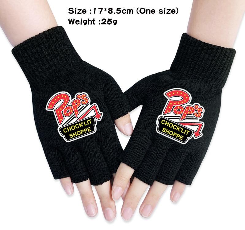Japan Anime Dragon Ball Z Cosplay Knitted Fingerless Lovers Warm Gloves