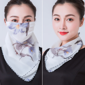 2020 mouth mask Face Mask Sun Protection Mask Outdoor Riding Masks Protective silk Scarf Handkerchief sunshade face cover shawl