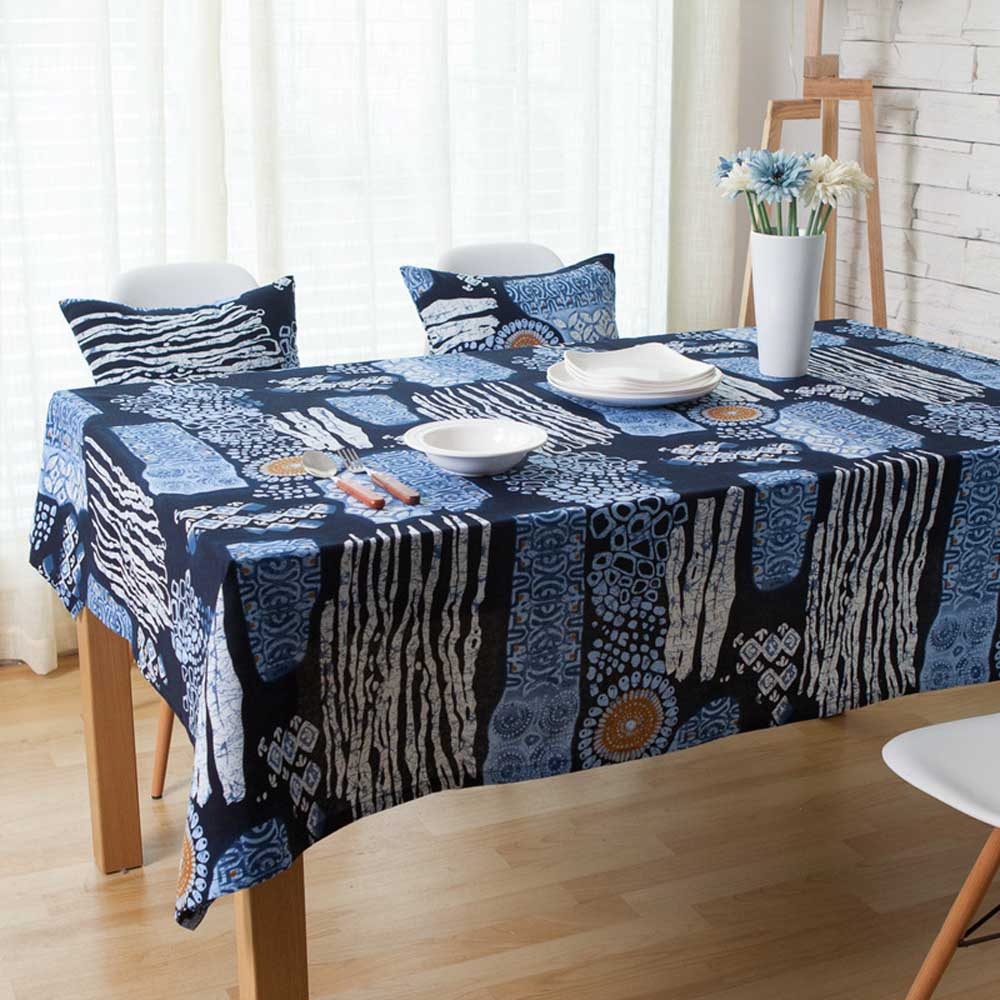 Batik Mediterranean Linen Tablecloth Tropical Bohemia Mexican Party Home Garden Wedding Decor Rectangular Table Cloth Cover