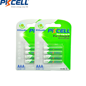 Image 3 - PKCELL 8Pcs/2card  AAA Battery NIMH aaa Low Self Discharge 3A Rechargeable Ni MH 850mAh 1.2V Batteries Bateria