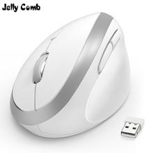 ג לי מסרק ארגונומי עכבר אלחוטי עבור PC טלוויזיה מחשב נייד Ajustable DPI 2.4G Wireless אנכי עכבר מחשב משרד אופטי עכברים