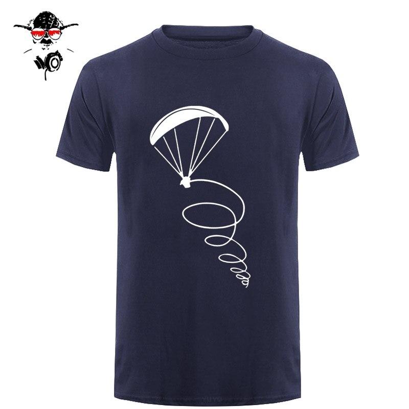 Summer New Fashion Men T-shirt Paragliding Fly Pilot Design Man Cotton Short Sleeve T Shirt Tops