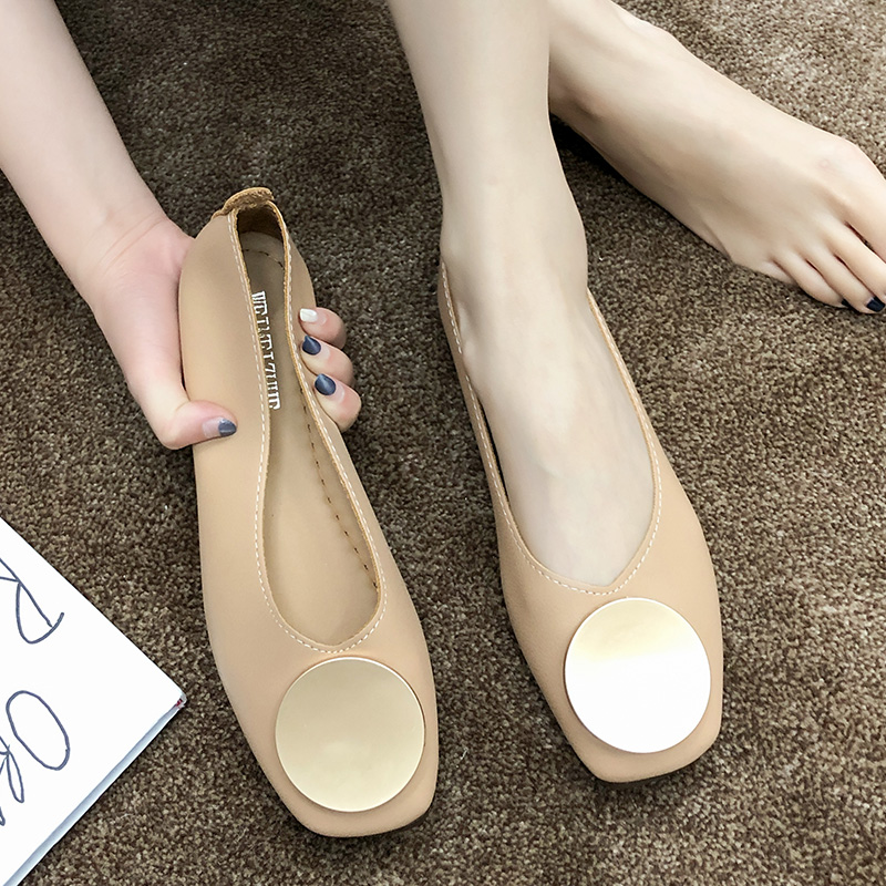 Rimocy Soft Pu Leather Ballet Flats Women Slip On Shallow Mouth Shoes Woman Spring Summer 2020 Flat Heels Nude Loafers Moccasins