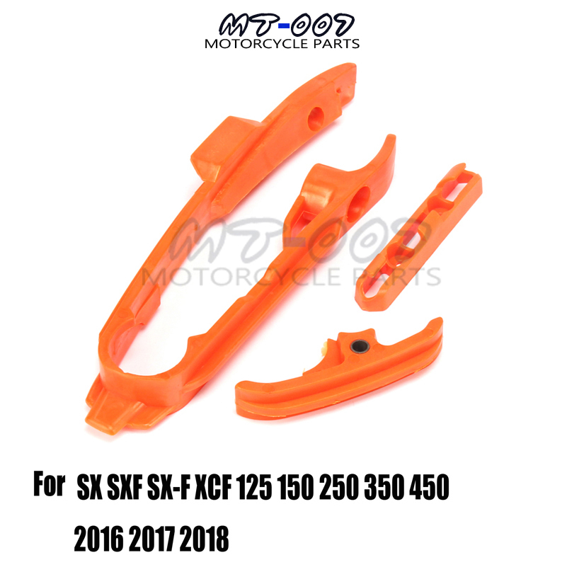 Off Road Chain Slider Guide Plastic Fork Protective Adhesive For SX SXF XCF XC XCF 125 150 250 350 <font><b>450</b></font> 2016 <font><b>2017</b></font> 2018 image