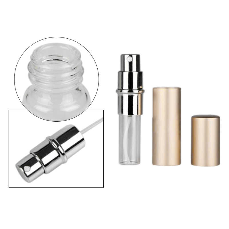 5ML Fashion Aluminum Star Shape Portable Travel Perfume Sprayer Empty Bottle Glass Cosmetics Container for Atomizer for Traveler