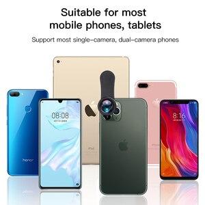 Image 3 - KUULAA 4K HD טלפון סלולרי מצלמה עדשת ערכת 3 ב 1 רחב זווית עדשת מאקרו עין דג עדשות עבור iPhone 11 פרו מקס Huawei P20 פרו סמסונג