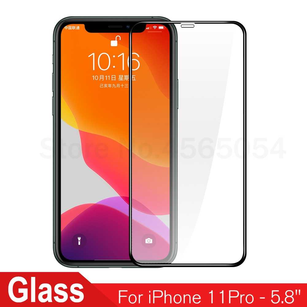 Tempered Glass For iPhone 11 pro 11 Glass Phone Screen Protectors For iPhone 11 pro max 11 2019 Full Cover Front Glass