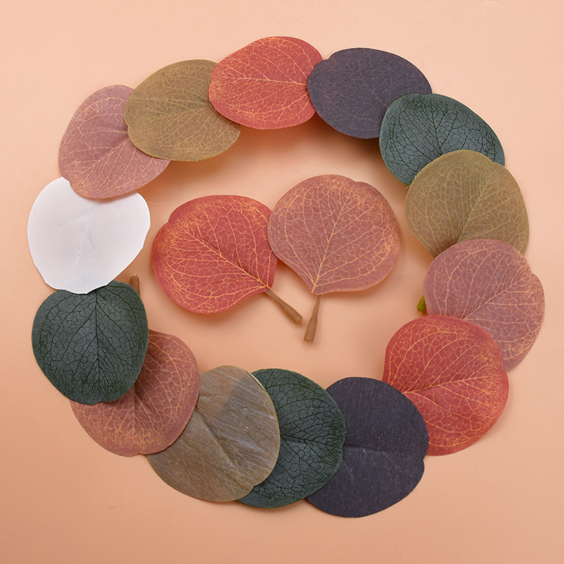 10pcs Christmas Leaves Wedding Gift Festive Supplies Artificial Plants Decorative Flowers Wreaths Home Decor Silk Leaf Wholesale