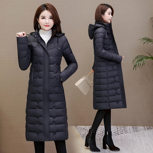 Image 3 - Winter Mäntel Frau Outwear 2020 Lange Parkas Plus Größe 4XL Warme Dicke Daunen Jacke Mit Kapuze Mode Schlank Solide Winter Kleidung frauen