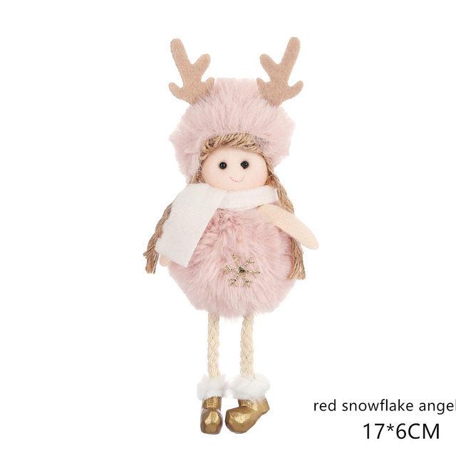New Year 2020 Cute Santa Claus/Snowman/Angel Christmas Dolls Noel Christmas Tree Decoration for Home Xmas Navidad 2019 Kids Gift 179